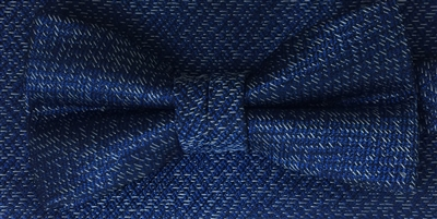 3178 ZAZZI Blue Boys Bow & Pocket Square Set