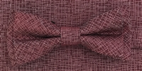 3751 ZAZZI bow & pocket square in a wine tone on tone pattern
