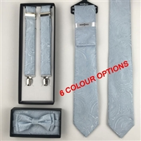 Matching Items: Bow & Pocket Square set, Braces, Tie, Ties & Pocket Square Set