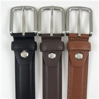 Double Stitch Leather Belt 576