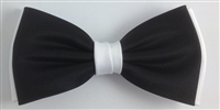 936 Regular black on white bow