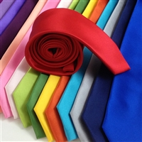 ZAZZI Solid Colour Satin Tie 7.5cm B1061