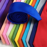 B1764 ZAZZI Solid Colour Satin Ties
