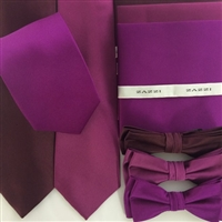 B1764 Berries ZAZZI Solid Tie, Bow & Pocket Square
