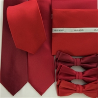 B1764 Reds ZAZZI Solid Tie, Bow & Pocket Square