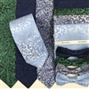 B1998 Blues & Green ZAZZI Floral Wedding Tie, Bow, Pocket Square & Face Mask