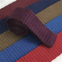Bubble Stitch Knitted Ties