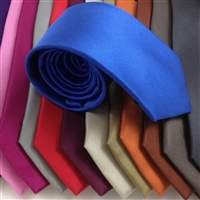 N1631 ZAZZI Solid Colour Silk Ties