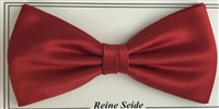 Silk bow in solid colour