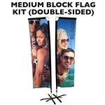 MEDIUM CUSTOM PRINTED BANNER FLAG KIT (DOUBLE-SIDED)
