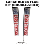 LARGE CUSTOM PRINTED BANNER FLAG KIT (DOUBLE-SIDED)