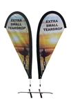 EXTRA SMALL CUSTOM PRINTING TEARDROP FLYING FLAG KIT (Double-Sided)