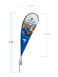 Teardrop Flag (Small) - 2 DAY SHIP