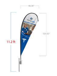 Teardrop Flag (Large) - 2 DAY SHIP