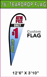 LARGE CUSTOM PRINTING TEARDROP FLYING BANNER FLAG