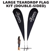 LARGE CUSTOM PRINTING TEARDROP FLYING BANNER FLAG KIT (Double-Sided)