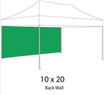 SOLID COLOR BACK WALL FOR 10 X 20 POP-UP TENT