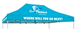 10 X 15 CUSTOM PRINTED CANOPY COVER FOR EVENT TENT FRAME