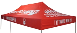 10 X 20 CUSTOM PRINTED CANOPY COVER FOR EVENT TENT FRAME