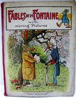 Antique Movable Book Fables of La Fontaine with Moving Pictures