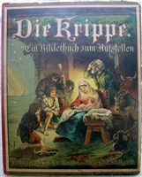 Die Krippe origianl antique pop-up book - (The Crib) J.F. Schreiber - Fine