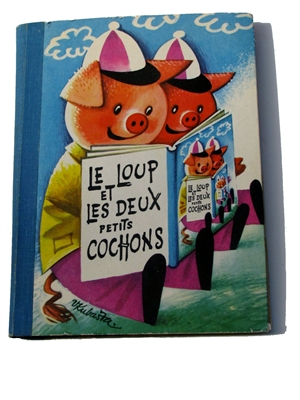 "Kubasta - The wolf and the two little pigs - RARE French only-  SOLD - This item is for reference only, to find available movable books, see category ""Books for Sale"""
