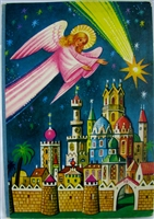Kubasta nativity pop-up angel shooting star