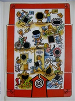 Very rare Kubasta Holiday Roulette cut-out/stand-up game