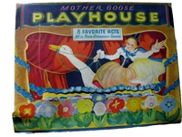 SOLD - Mother Goose Playhouse - 8 pop-up books in original box - fine