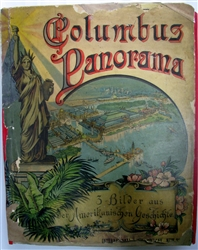 COLUMBUS PANORAMA: antique pop-up book -  J.F. Schreiber -