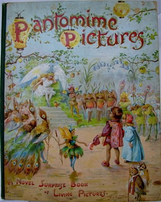Nister - Large 1895 Pop-up Book - Pantomime Pictures - Fine