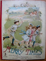 Merry Times - 1895 Rare and Shocking Movable Book