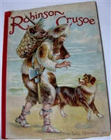 ROBINSON CRUSOE Father Tuck's Mechanical Series1890 movable book