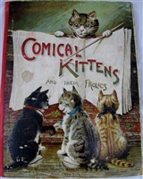 COMICAL KITTENS & THEIR FROLICS 1800's Movable book
