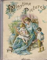 SOLD - Raphael Tuck Playtime Pictures - 1800's pop-up book