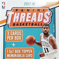 PICK A PACK 2017-18 Threads BK Hanger 5x7 MEM