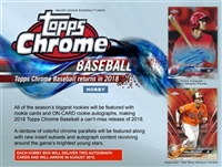 PICK A PACK 2018 Topps Chrome Baseball HOBBY