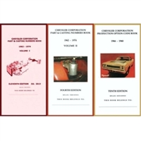 Pocket Decoding & Casting Number Book Set for 1966-1968 Plymouth - Dodge - Chrysler - Imperial