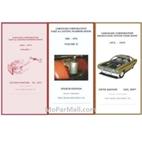 Pocket Decoding & Casting Number Book Set for 1972-1974 Plymouth - Dodge - Chrysler - Imperial