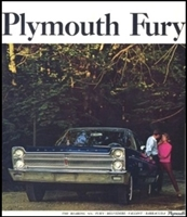 Large Original Sales Brochure for 1965 Plymouth Fury