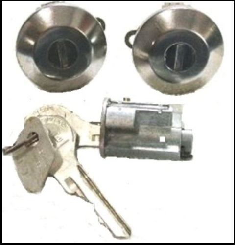 Door ignition lock set for 1960 1965 plymouth dodge a body for 007 door locks