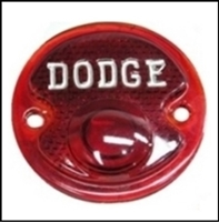 New glass tail light lens with DODGE script for 1948-53 pick-ups, expresses and panels