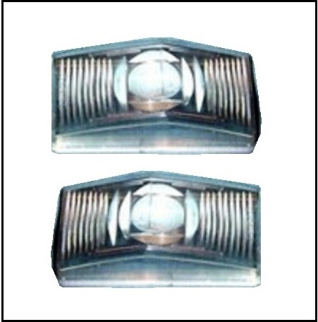 Pair Of New Rh And Lh Parking Turn Signal Lamp Lenses For