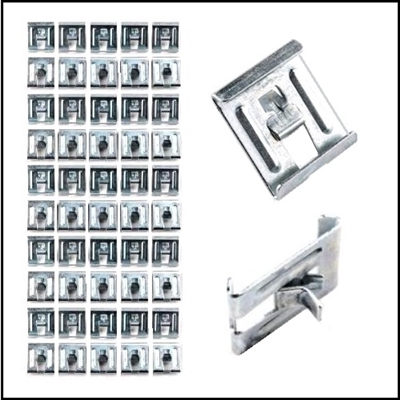 (60) exact reproduction body belt line trim retaining clips for all 1946-48 and early1949 P-15 Deluxe and Special Deluxe