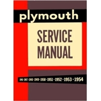 Factory Shop -  Service Manual for 1949-1954 Plymouth
