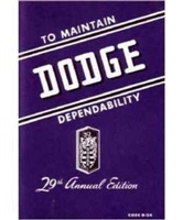 Factory Owners Manual for 1946-1948 Dodge Passenger Cars