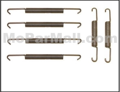 Set of (4) front and (2) rear brake shoe return springs for 1946-48 Chrysler Corp. passenger cars