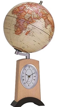 World Globe with Clock