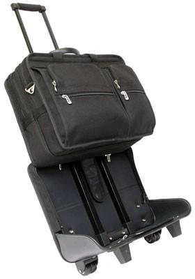 Laptop Case on Wheels | Black Tech-Lite Ballistic Nylon ...