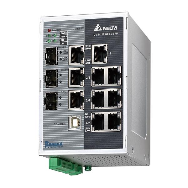 Delta Industrial Ethernet Solution Dvs 110w02 3sfp Series